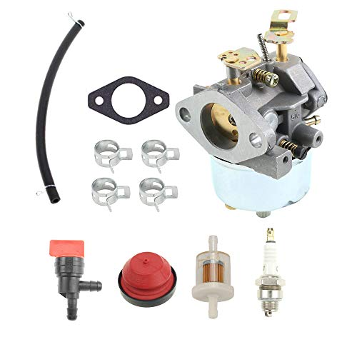 ANTO 632334A Carburetor for Tecumseh 632334 HM70 HM80 HMSK80 HMSK90 John Deere AM108405 Toro 824 824XL 828 Snow Blower Thrower with Installation Accessories