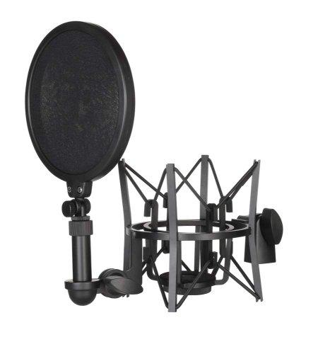 Røde elastische Mikrofonhalterung SM6 mit integriertem Popshield