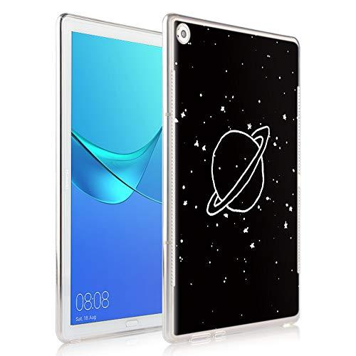 "Yoedge Funda para Huawei Mediapad M5 8,4, Carcasa Silicona Gel TPU Transparente con Dibujos Diseño Smart Case Cover Antigolpes Piel de Protector Tableta para Huawei Mediapad M5 8,4"", Tierra"