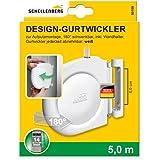 Schellenberg 50156 - Enrollador atornillado mini para montaje en la pared o en el marco de ventana, color blanco