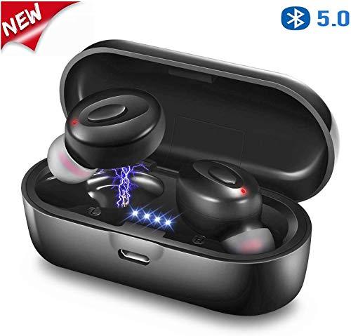 Cuffie Bluetooth 5.0 Auricolari Wireless Stereo Senza Fili Sportivi in Ear con Custodia da Ricarica, Mini Cuffie per Android IOS # F18