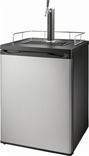 Insignia - 5.6 Cu. Ft. 1-Tap Beverage Cooler Kegerator - Stainless steel
