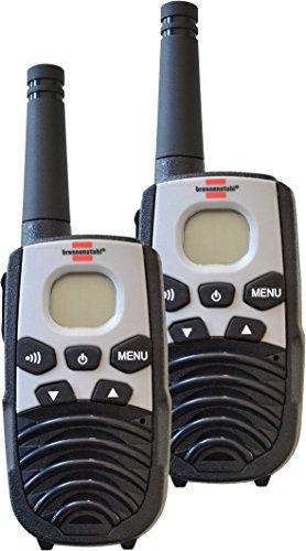 Brennenstuhl PMR Walkie Talkie TRX 3500 / Funkgeräte Set mit 5km Reichweite (mit 2 Mobilgeräten, 8 Kanälen und LCD-Display) schwarz