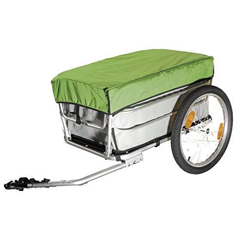 Qnlly 20-Zoll-Fahrrad-Fracht-Gepäckanhänger mit Regenschutz, Aluminiumlegierungs-Rahmen-Fahrradanhänger, Gepäckwagen, Mountainbike-Anhänger