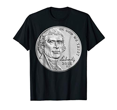 USA Coins Nickel TShirt 5 Cents America United States