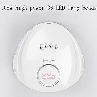 Xxadliy Quick-Drying Nail Tools 108W / 72W Nail UV Dryer Intelligent Induction Heat Lamp Led Lights Do Nail Glue Machine (Color : B)
