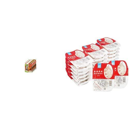 味の素 Cook Do きょうの大皿 ガリバタ鶏用 85g×4個 + Happy Belly パックご飯 新潟県産こしひかり 200g×20個(白米) 特別栽培米