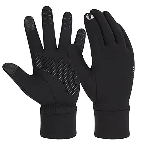 ZASFOU Mens Winter Touchscreen Gloves, Warm Driving Running Cycling Gloves for Men Women with Anti Slip Grip, Perfect for Cold Weather, Yard, Workout, Outdoor, Camping and Daily Working
