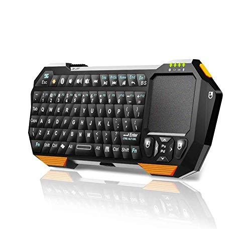 Mini Wireless Keyboard with Touchpad for Smart TV Projector Compatible with Android iOS Windows