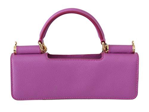 Dolce & GabbanaPurple Leather Push Button Accessory Micro Bag