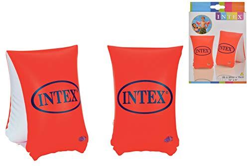 Intex De Luxe Kinder Aufblasbar Schwimmen Arm Bänder Alter 3 - 12 Jahre - Orange - orange, Orange, 3-6 Jahre