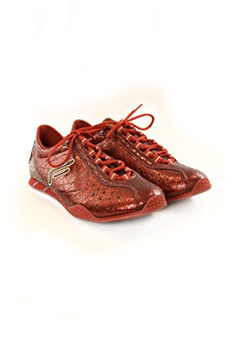 Fornarina Sneakers Effetto craquelure Red Burgundy 39