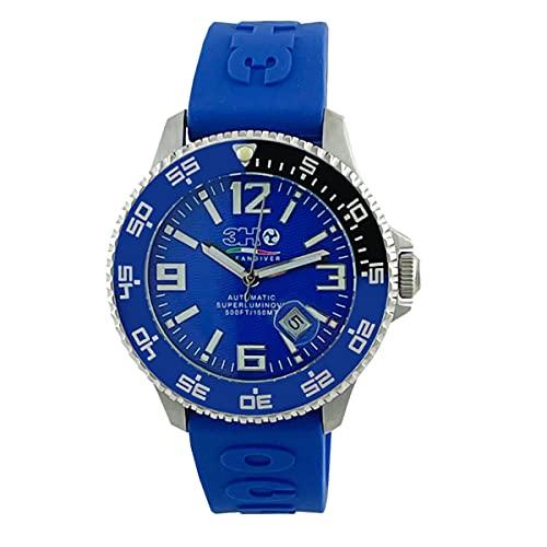 Sub 3H Italia Watches Oceandiver - Reloj automático para hombre BLue 500ft/150 m