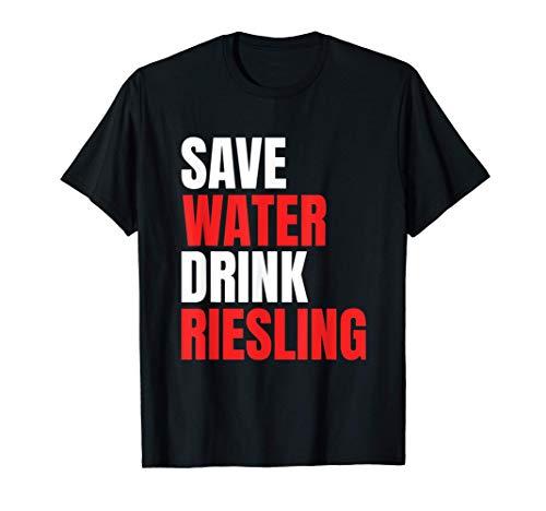 Wasser Riesling Wein Schorle Weinfest Vino Geschenk Alkohol T-Shirt