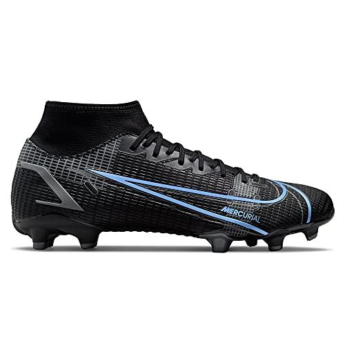 Nike Mercurial Superfly 8 Academy MG, Scarpe da Calcio Unisex-Adulto, Black/Black-Iron Grey, 44.5 EU