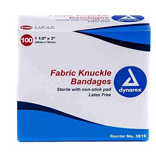 Dynarex Fabric Knuckle Bandage Box of 100
