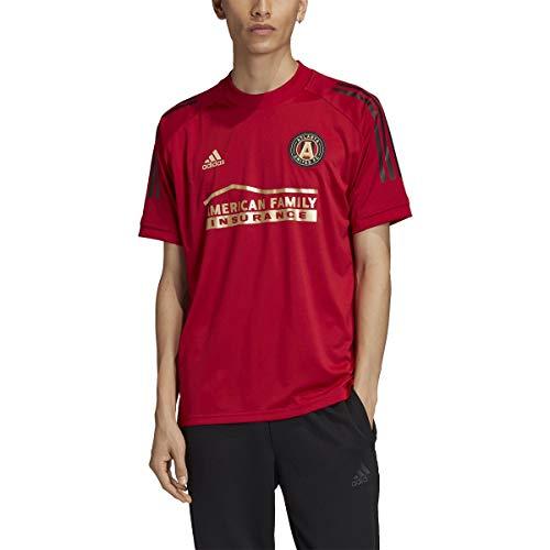 adidas Atlanta United Fc Adult Soccer Training Jersey Red/Black L