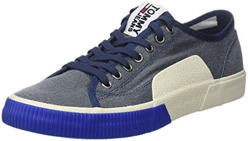 Tommy Hilfiger Tj Urban Textile Sneaker, Zapatillas Hombre, Azul (Ink 006), 43 EU
