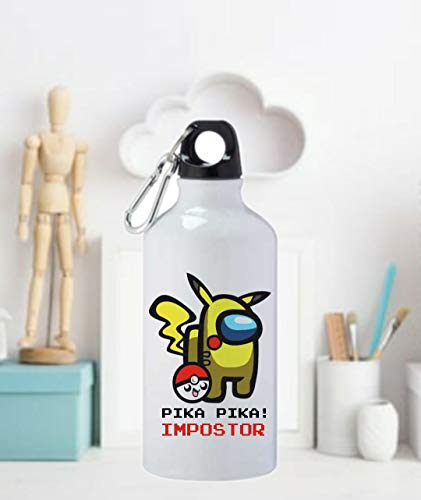 Among us Termo Botella de Agua -Jarra 500ML,Regalo Cantimplora Aislado Cafe para Llevar Bidón Botella de Aluminio