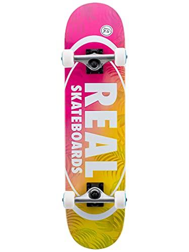 Real Island Ovals Small Factory - Skateboard completo multistrato, 19,5 cm