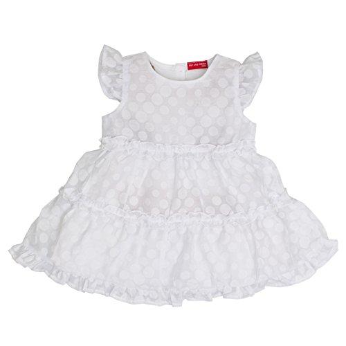 SALT AND PEPPER baby-meisjes jurk B Dress weiß mit Punkten
