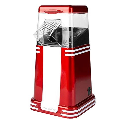 Monsterzeug Rot-weiße Retro Popcorn-Maschine mit Heißluft, 60 g pro Portion, Gadget für Küche und Wohnzimmer, Zubehör für Heimkino