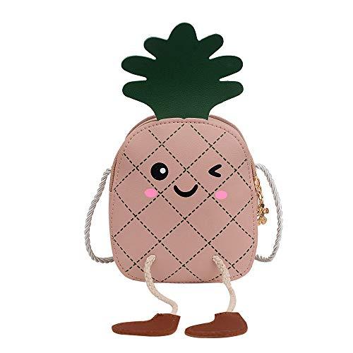XGT Cute Fruit Strawberry Pineapple PU crossbody bags for little girls boys Kids Handbags Purse Backpacks bag colorful