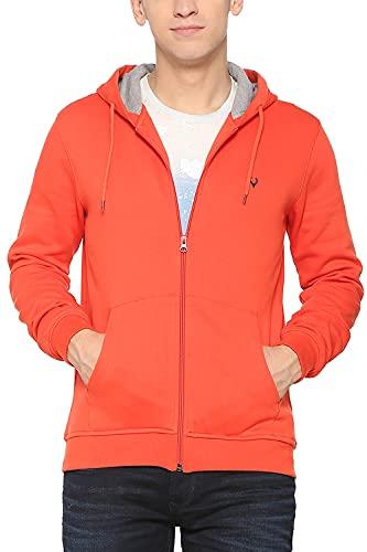 Allen Solly Men's Sweatshirt (ASSTORGPS98844S_Orange 17-1558 TCX)