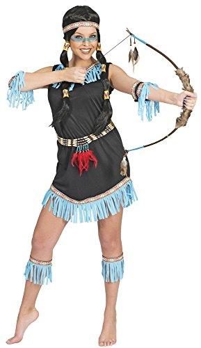 Generique - Indianerin Kostüm mit Fransen blau