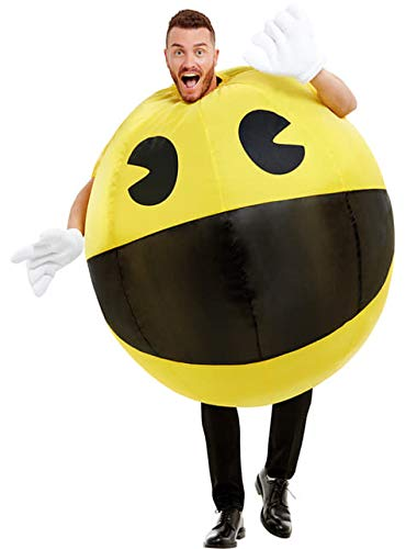 * NEW * Pac-Man Inflatable Costume with inflating fan for 3D effect.