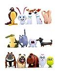 Set 14 pcs. Mini Figures Pets Movie Toys Action Figures The Secret Life of Pets Cupcake Cake Topper Size 1-2 Inchec