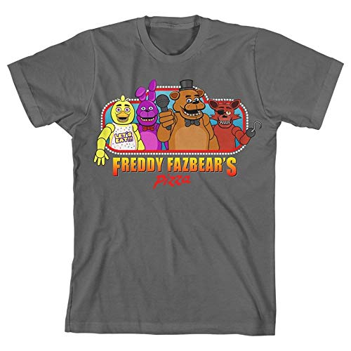 Desconocido Five Nights at Freddy'S Fazbear's Pizza Boy's Gray T-Shirt: Medium
