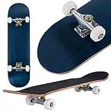 COSTWAY Skateboard Planche à roulettes en Bois d'Erable pour Les Enfants, Jeunes et Adultes79x20cm (Bleu)
