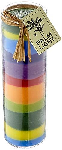 Palm Light Streifenspaß Palmwachs-Kerze, Bunt