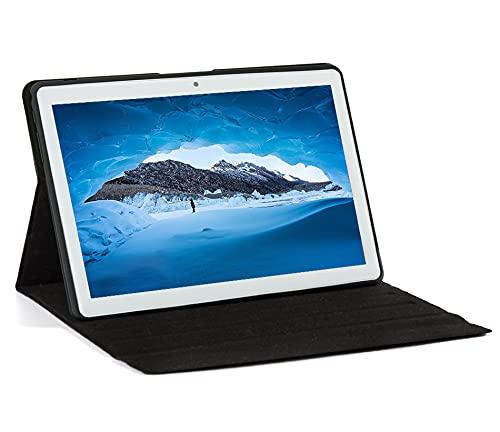 KISEDAR Tablet Android 10.0 10.1 'PC4GB RAM 64GB Tablet Tableta desbloqueada de Cuatro núcleos, Adecuada para teléfono móvil 3G, Ranura para Tarjeta SIM de Doble cámara, Bluetooth, GPS, WiFi
