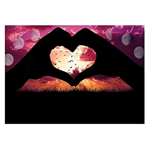 sunnymi  5D Diamant Painting Landschaft Charakter Tiere Bilder DIY Stickerei Painting Kreuz Stich Diamond Dekoration 5D Stickerei Strass Geklebt DIY Diamant Malerei Kreuzstich (M)