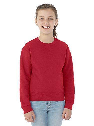 Jerzees NuBlend Youth Crewneck Sweatshirt (Safety Green) (L)