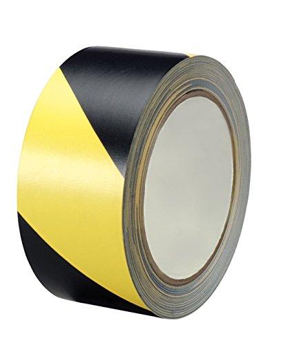 Black & Yellow Hazard Warning Safety Stripe Tape 2' X 54 feet