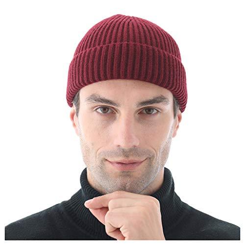 Strickmütze Damen Hut Herren Warme Baggy Crochet Winter Strick Ski Beanie Slouchy Caps CICIYONER