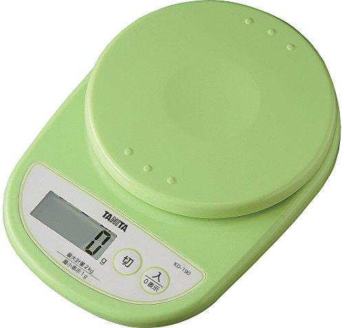タニタ デジタルクッキングスケール 2kg ピスタチオグリーン KD-190-GR