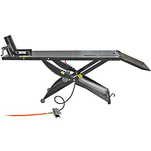 Rage Powersports Black Widow BW-1000A-Air-Operated Motorcycle Lift Table