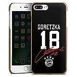 DeinDesign Holz Hülle kompatibel mit Apple iPhone 7 Plus Holz Schutzhülle Echtholz Handyhülle Goretzka #18 FC Bayern München Trikot