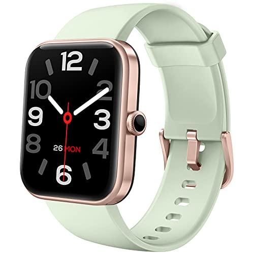 LIFEBEE Smartwatch, 1.69' Reloj Inteligente Hombre Mujer con Alexa Integrada, Pulsómetro, Monitor de Oxígeno de Sangre, Monitor de Sueño, Monitores de Actividad Impermeable 5ATM con 14 Modos Deporte