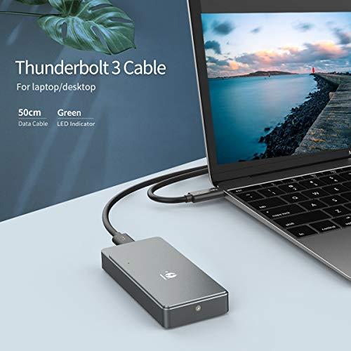 HWENJ M.2 NVME SSD Enclosure Thunderbolt 3 40Gbps SSD Case Support ...