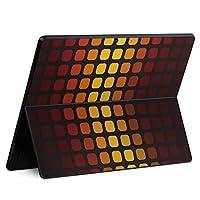 igsticker Surface Pro X 専用スキンシール サーフェス プロ エックス ノートブック ノートパソコン カバー ケース フィルム ステッカー アクセサリー 保護 001932 チェック・ボーダー 模様 カラフル