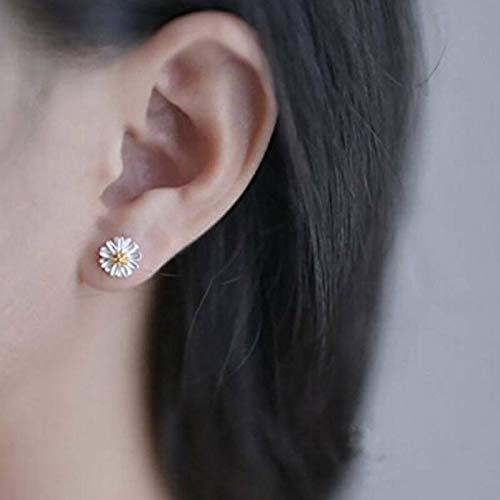 Women Girl Small Fresh Daisy Earrings Sun Flower Ear Stud Earrings Jewlery