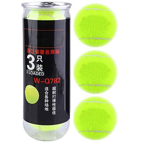 Best Bargain Wolfgo Tennis Ball -3pcs Tennis Balls Sport High Elastic Professional Training Practice...