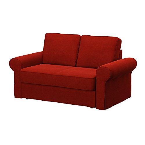 Soferia - IKEA BACKABRO Funda para sofá Cama de 2 plazas, Elegance Dark Orange