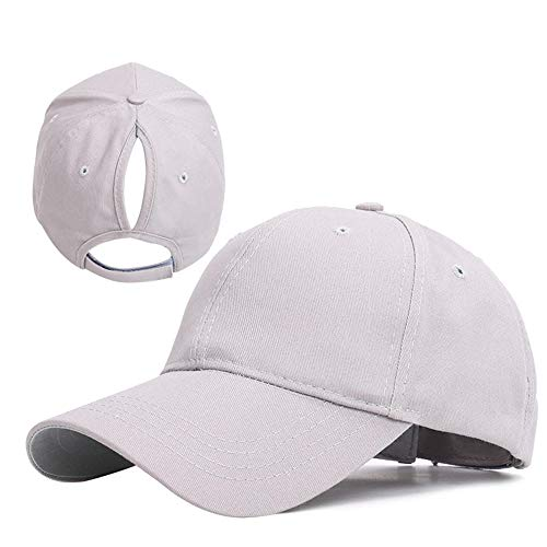 N/N Kappe Pferdeschwanz Baseballkappe Weiblich Snapback Verstellbare Kappe Schatten Pferdeschwanz Kappen Hip Hop Hüte Für Männer Frauen Outdoor Summer-Grey_55-60Cm