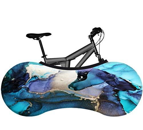 KaiXINSun Pintura De Tinta Rompecabezas Azul Funda para Bicicleta Tela Elástica A...